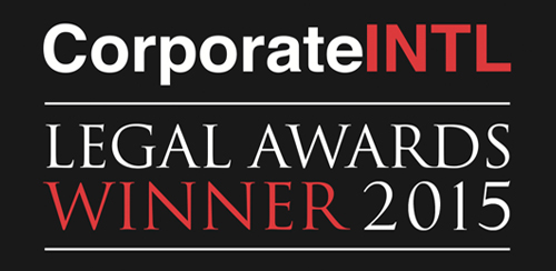 Corporate INTL Legal Awards Winner 2015